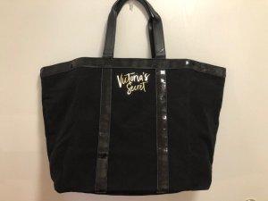 Victoria's Secret Borsa da viaggio nero-oro