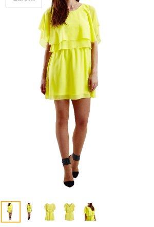 NEU Vila by Vero Moda Kleid Party Minikleid Büro Sommerkleid Gr.M/38 gelb