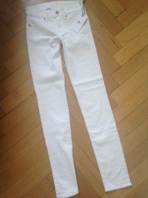 Neu W24 7 for all mankind Roxanne the slim white denim NP: 200 Eur