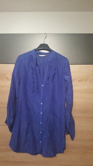*NEU Ware: H&M Bluse Blau Lange Ärmel zum hoch krempeln Gr. 38