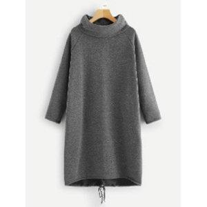Vestido de tela de sudadera gris oscuro