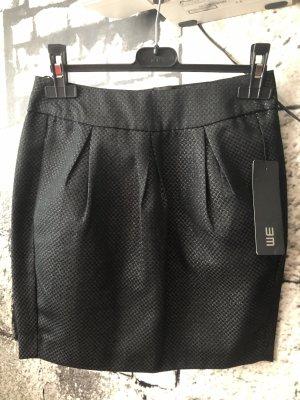 WE Fashion Tulprok zwart-zilver