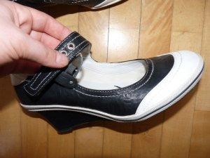 NEU* Wedges gr 39 schwarz weiß