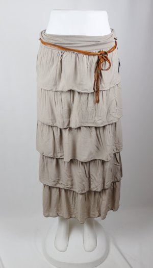 Madonna Broomstick Skirt taupe-beige mixture fibre