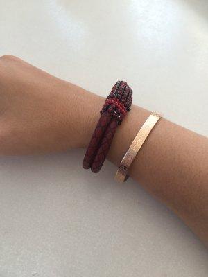 NEU - weinrotes Armband
