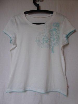 NEU: Weiß-hellblaues T-Shirt von QS (S.Oliver)