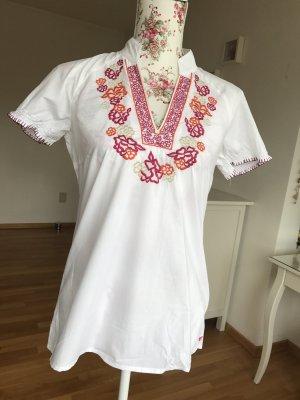 Neu! - weiße Tunikabluse mit schöner Stickerei von Esprit