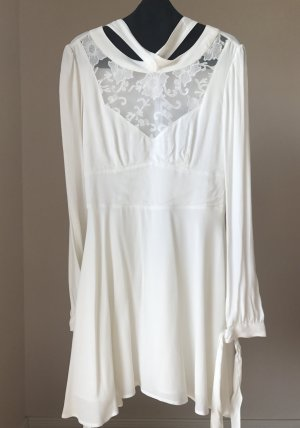 NEU, Weisses Partykleid Kurzes Langarm Luxus Kleid , NP299€ Silvesterkleid