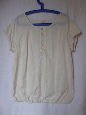 NEU: Weite, hellbeige Kurzarm-Bluse von S.Oliver