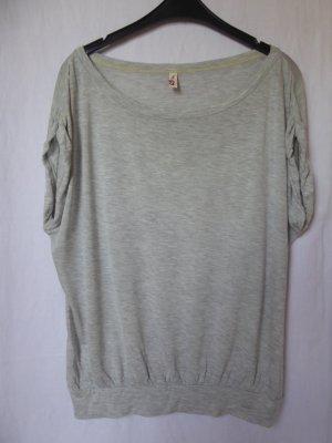 QS by s.Oliver T-shirt gris clair coton