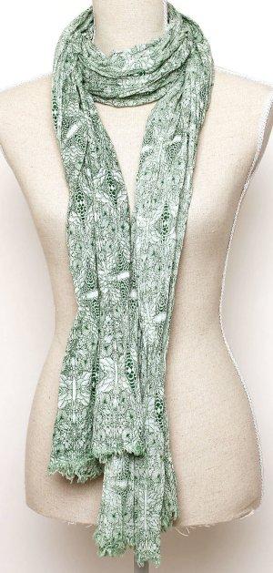 NEU wertig! Noa Noa Sommerschal Tuch Schal Blumen floral grün weiß