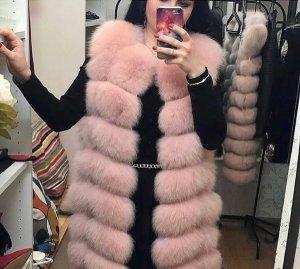 Smanicato di pelliccia color oro rosa