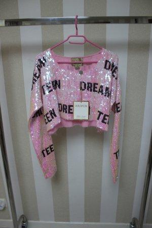 NEU WILDFOX Crop Pailletten Pullover Shirt Gr M