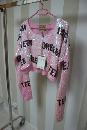 NEU WILFOX TEEN DREAM PAILLETTEN CROP PULLOVER GR M