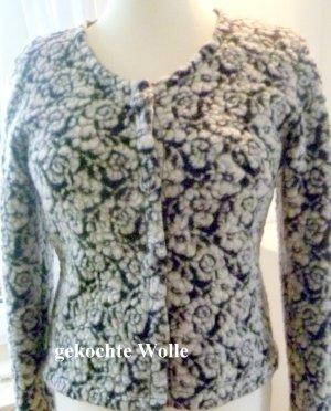 Wool Jacket white-black wool