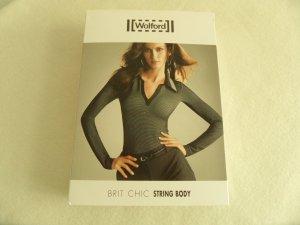 Neu! Wolford Brit Chic String Body OVP Größe 40/ L lavendel/schwarz