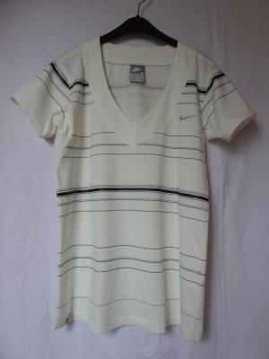 NEU: Wollweißes T-Shirt mit Streifen von NIKE