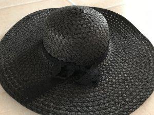 NEU * WOW * schwarzer Hut groß * Karneval Fasching Sommerhut * DIVA