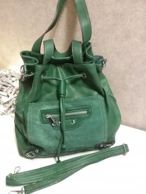 Pouch Bag forest green imitation leather