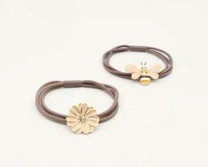Neu: wunderschöne Gummi/ Haarband mit Blume oder Biene