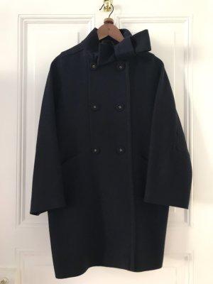 Max Mara Cappotto in lana blu scuro