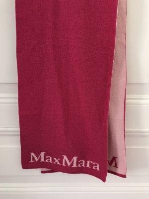 Max Mara Gebreide sjaal magenta-roze Wol