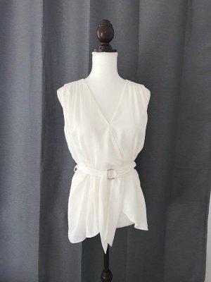 NEU wunderschönes Sommertop top Bluse Sommer Shirt weiß Größe S/M 36 38 wollweiß