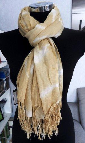 NEU XL Schal mit Batikmuster in beige-weiß 178 x 110