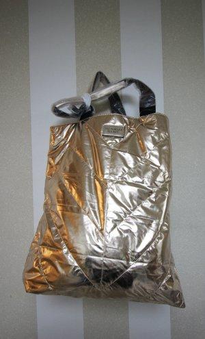 NEU XL SHOPPER METALLIC BAG TASCHE VICTORIA´S SECRET HANDTASCHE BEACH BAG