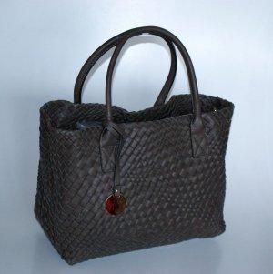 Shopper dark brown imitation leather