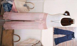 neu - YOUR&SELF, Italy 36 38 40 schönste Sommer Maxi Hose Ibiza Pants mit Stickerei + Jersey innen SALE-FINALE