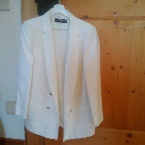 NEU: Zara Blazer in weiß/silberne Knöpfe