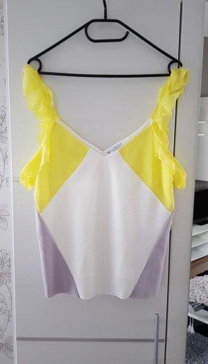 Zara Mouwloze blouse veelkleurig