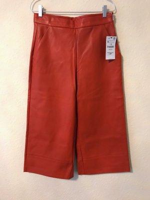 Zara Pantalone culotte multicolore Finta pelle