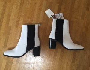 Neu! Zara Echtleder Leder Blogger Chelsea Stiefeletten Boots 36