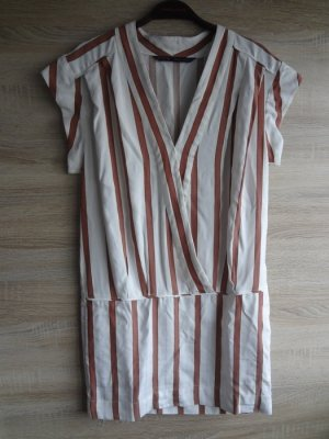NEU Zara gestreift stripes crossover Kleid Kragen XS blogger NEU
