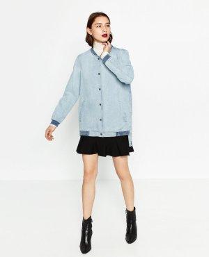 NEU! Zara Jeans Blogger Oversized Bomber Jacke XS S 32 34 36