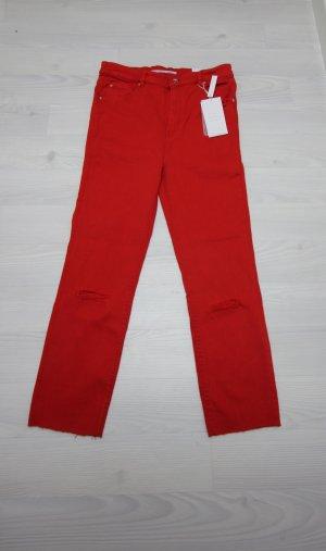 Zara Jeans a 7/8 rosso