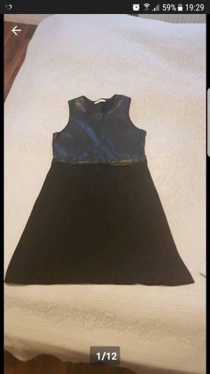 Neu Zara Kleid in Schwarz Gr S Leder Optik