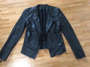 Zara Veste en cuir noir cuir
