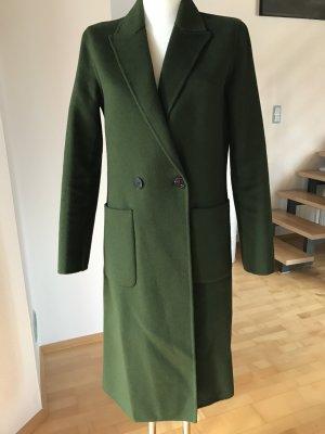 Zara Woman Wollen jas donkergroen-bos Groen