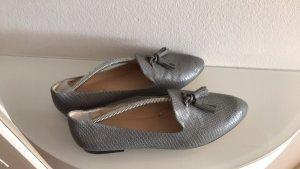 Zara Mocassins gris-bleu azur