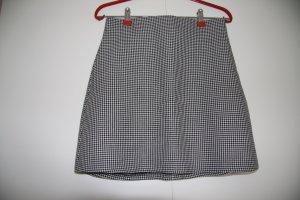 NEU Zara Minirock ausgestellt High Waist Hahnentrittmuster schwarz weiß Gr. S