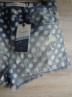 NEU Zara polka dots hot pants destroyed 36 blogger