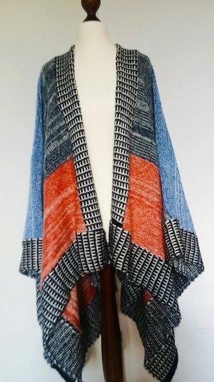 Neu Zara Poncho Patchwork-Stil ausgefallen