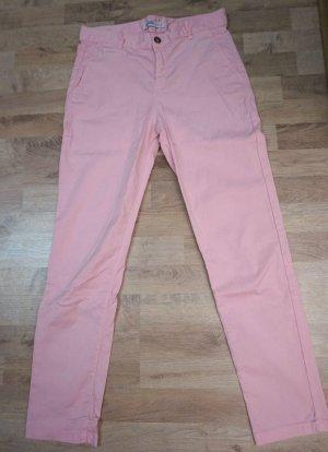 Zara Basic Pantalone chino rosa chiaro-rosa Lyocell