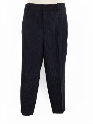 NEU Zara Stoffhose Nadelstreifen Nachtblau Anzug Hose Midrise Crop Kurz business Blogger