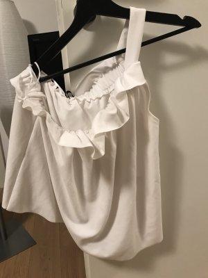 Zara Top monospalla bianco