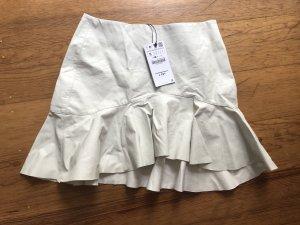 Zara Basic Flounce Skirt white