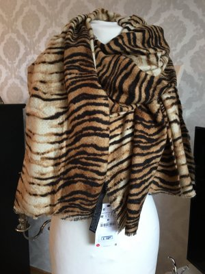 Neu Zara XL Tiger Schal Tuch Leo Animal Print